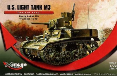 726073 - M3 US Light Tank - Tunisia 1943 1/72