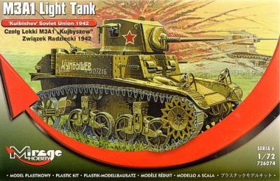 726074 - M3A1 Light Tank 'Kuibyshev' Soviet Union 1942 1/72