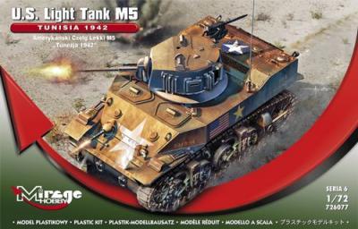 "726077 - U.S.Light M5 ""TUNISIA 1942"" 1/72"