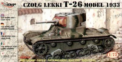 72609 - Russian T-26 model 1933 light tank 1/72