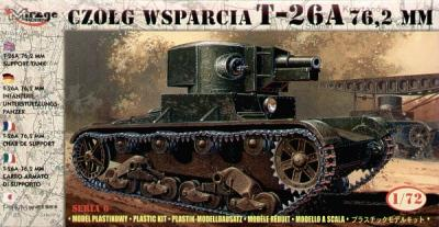 72610 - Russian T-26A 7,62mm support tank 1/72