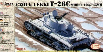 72611 - Russian T-26C model 1937/45mm gun 1/72
