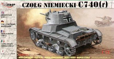 72619 - C740( r) German tank 1/72