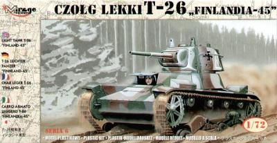 72620 - Russian T-26 tank Finland 1945 1/72