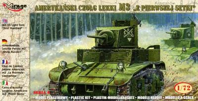 72670 - M3 US light tank 'First Hundred' 1/72