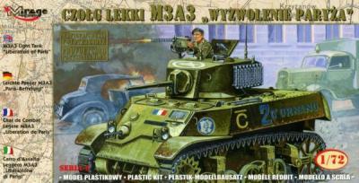 72676 - M3A3 Light Tank 'Liberation of Paris' 1/72