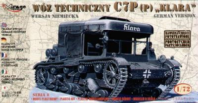 72892 - Klara C7P German Recovery Vehicle with etched parts 1/72