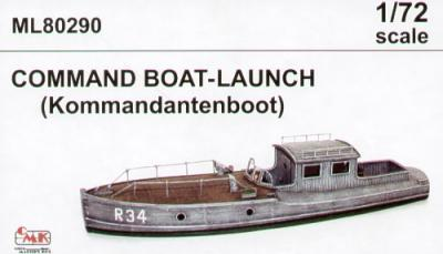 ML80290 - Command boat/launch (waterline hull) 1/72