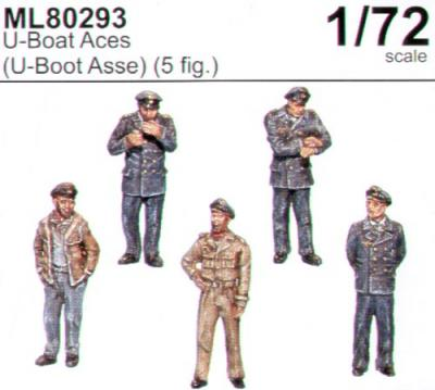 ML80293 - U-boat aces x 5 1/72