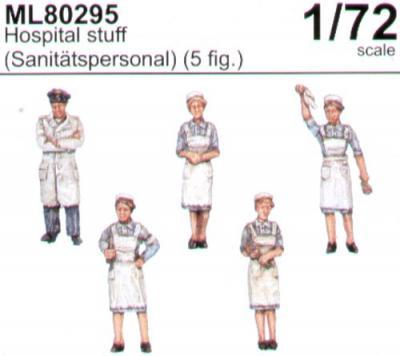 ML80295 - Hospital Staff. 1 Doctor and 4 nurses 1/72