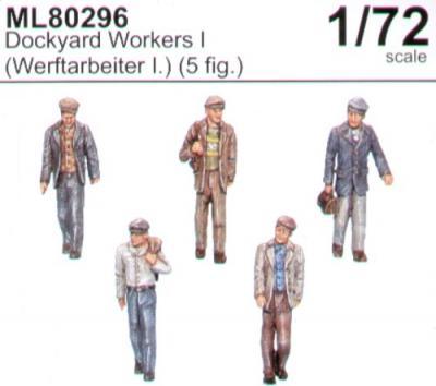ML80296 - Dockyard workers set I x 5 figures 1/72