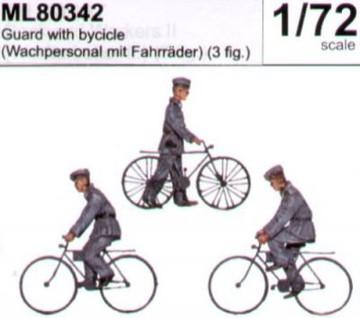 ML80342 - Guard with bicycles 1/72