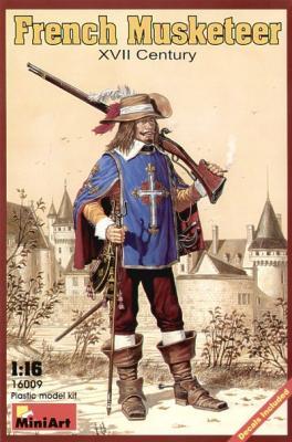 16009 - French Musketeer XVII Century 1/16