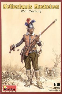 16010 - Netherlands Musketeer XVII Century 1/16
