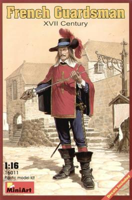 16011 - French Guardsman XVII Century 1/16