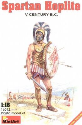 16012 - Spartan Hoplite V century B.C. 1/16