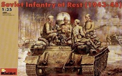 35001 - Soviet Infantry at rest WW2