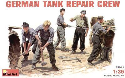 35011 - German WWII Tank Repair Crew