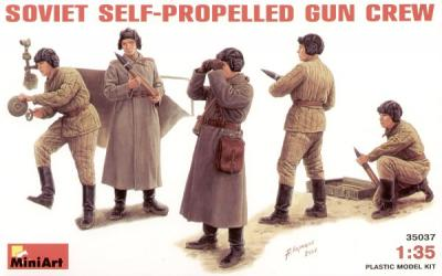 35037 - Soviet self-propelled gun crew WW2