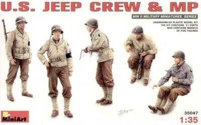 35047 - U.S. Jeep crew WW2