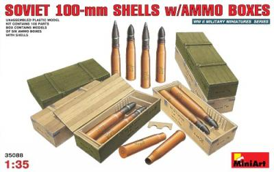35088 - Soviet 100mm Shells with ammunition boxes