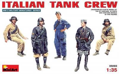 35093 - Italian WWII Tank Crew