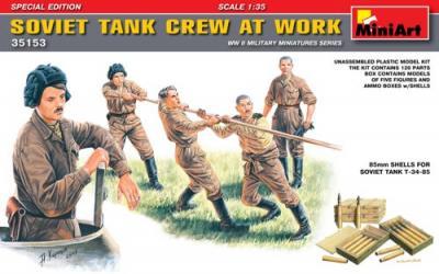 35153 - Soviet Tank Crew WWII at Work
