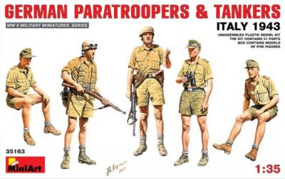35163 - German Paratroopers and Tankers Italy 1943