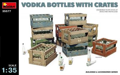 35577 - Vodka and Schnapps bottles and transportation/packaging crates