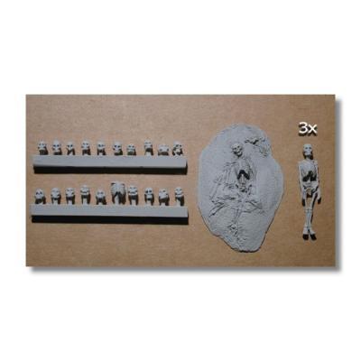 NIK-ACC18 Skulls & Skeletons 1/72