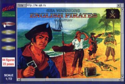 72001 - English Pirates 1/72