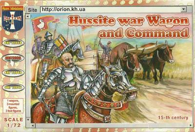 72039 - Hussite War Wagon and Command 1/72