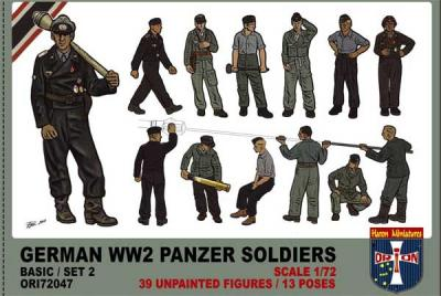 72047 - German Panzer Soldiers (WWII) set 2 1/72