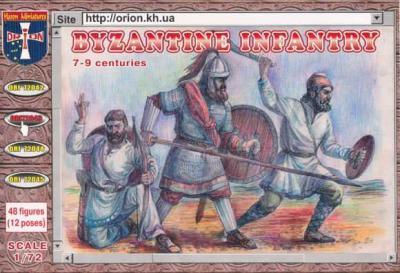 72043 - Byzantine Infantry (7th - 9th Century) 1/72