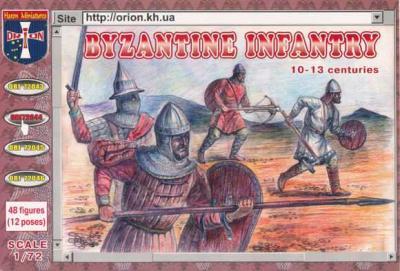 72044 - Byzantine Infantry (10th - 13th Century) 1/72