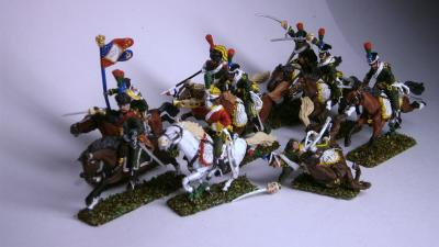 MC009 Horse Chasseurs of the line 1807/1812 (9 riders) at 1/72