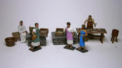 AR19 - Roman fishshop with accessories 1/72