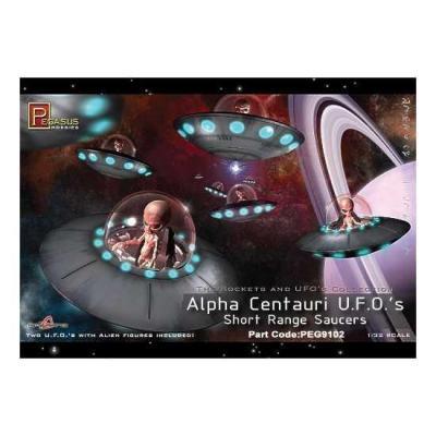 Pegasus 9102 Alpha Centauri UFO Short Range Saucers Alien Untertasse 1:32