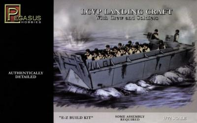 7650 - LCVP Landing Craft with 12 figures and sea Base 1/72