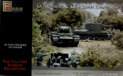 7665 - Russian KV-1 Early and Russian KV-2 1/72