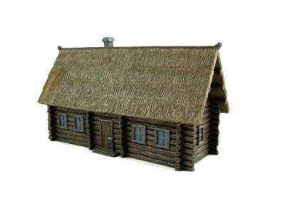 7803 - Russian Izba (Wooden building/Thatch roof)(pre-built) 1/72