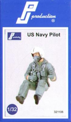 321106 - USN Pilot 1980/90's seated in aircraft
