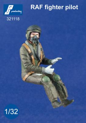 321118 - RAF jet fighter pilot seated in a/c (modern)