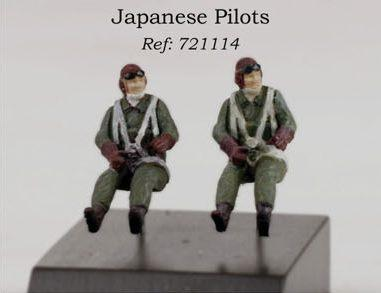 PJ721114 - 2 x Japanese pilots WWII seated in aircraft 1/72