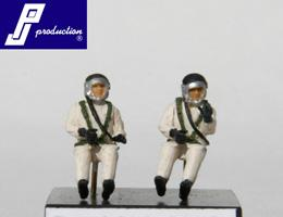 PJ721122 - 2 French 1960's High Altitude pilots seated in aircraft 1/72