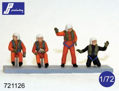 PJ721126 - SAR/Search And Rescue helicopter/Westland Sea King crew set (set of 4 figures: pilot, co-pilot, wincher, diver) 1/72