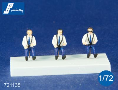 721135 - Civilian pilots seated in a/c - 3 figures 1/72