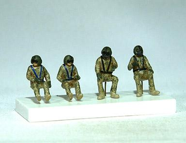 PJ721137 - Sikorsky UH-60A Black Hawk crew (4 figures) 1/72