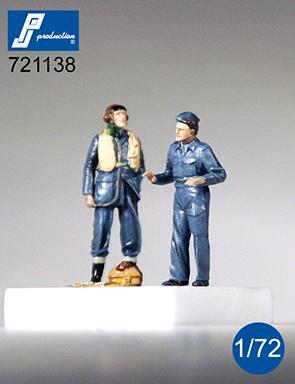 PJ721138 - RAF Pilot & Mechanic (WWII) (2 standing figures) 1/72