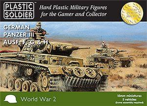 WW2V15009 - German Panzer III F, G & H 15mm